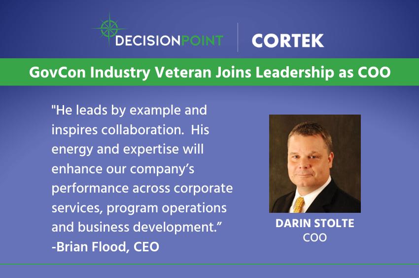 Darin Stolte, New DecisionPoint | CORTEK COO